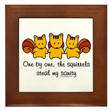 One by One The Squirrels Framed Tile
