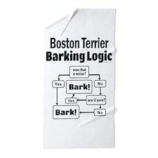 Boston Terrier Logic Beach Towel
