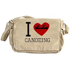 I Heart Canoeing Messenger Bag