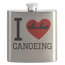 I Heart Canoeing Flask