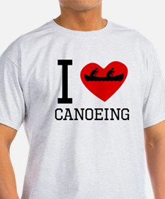 I Heart Canoeing T-Shirt