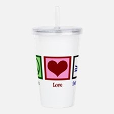 Peace Love Swimming Acrylic Double-wall Tumbler