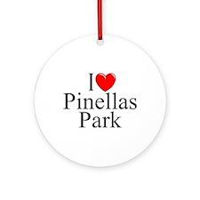 """I Love Pinellas Park"" Ornament (Round)"