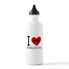 I Heart Bobsledding Water Bottle