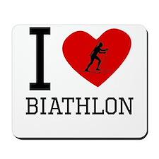 I Heart Biathlon Mousepad