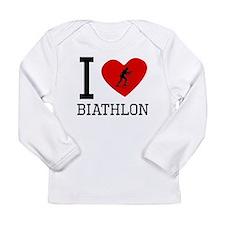 I Heart Biathlon Long Sleeve T-Shirt