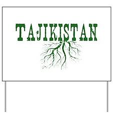 Tajikistan Roots Yard Sign