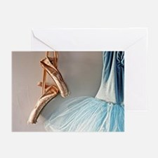 Blue Ballet Tutu Costume and Worn Pointe Shoes Gre