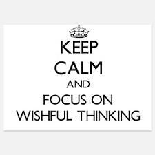 Keep Calm by focusing on Wishful Think Invitations