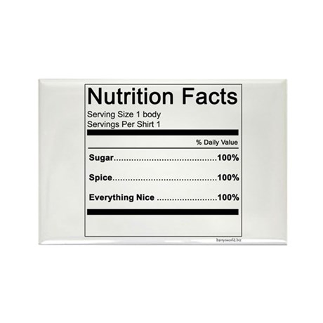 Girl Nutrition Rectangle Magnet (100 pack)