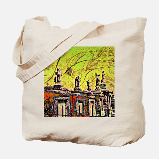 Cemetary Abstract Tote Bag