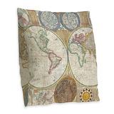 Map Burlap Pillows