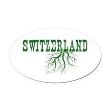 Swiss Roots Oval Car Magnet