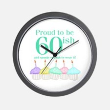 60ish Birthday Wall Clock