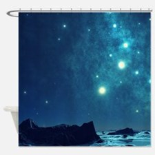 Magical Night Sky Shower Curtain