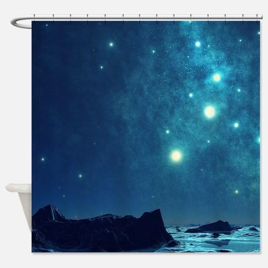 Magical Night Sky Shower Curtain