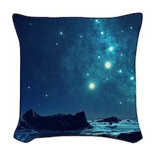 Magical Night Sky Woven Throw Pillow