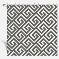 Greek Key Pattern Trendy Geometric Shower Curtain