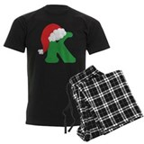 Christmas letter k Men's Dark Pajamas
