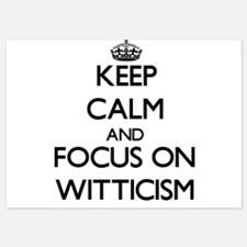 Keep Calm by focusing on Witticism Invitations