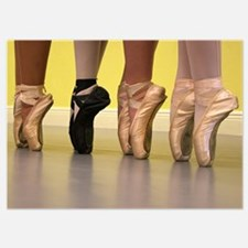 Ballet Dancers on Pointe or on Toes Invitations