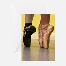 Ballet Dancers on Pointe or on Toes Greeting Cards
