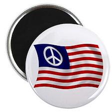 """U.S. Peace Sign Flag 2.25"""" Magnet (100 pack)"""