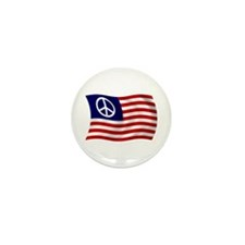 U.S. Peace Sign Flag Mini Button (100 pack)