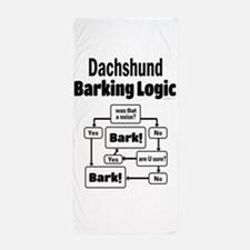 Dachshund Logic Beach Towel