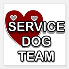 """Service Dogs Square Car Magnet 3"""" x 3"""""""