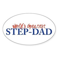 World's Greatest Step-Dad II Oval Decal