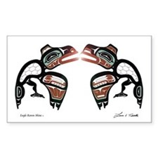 Eagle-Raven Shine Rectangle Decal