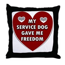 Service Dogs Throw Pillow