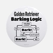Golden Retriever Logic Ornament (Round)