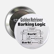 """Golden Retriever Logic 2.25"""" Button"""