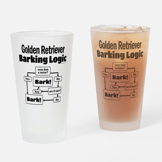 Golden Retriever Logic Drinking Glass