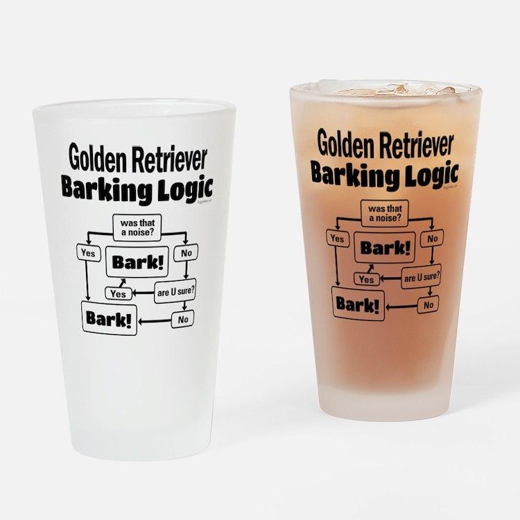 Golden Retriever Logic Drinking Glass
