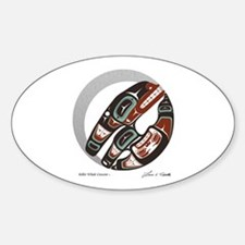 Killer Whale Crescent Oval Decal