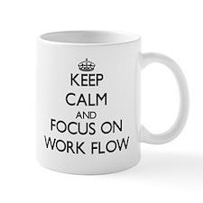 Keep Calm by focusing on Work Flow Mugs