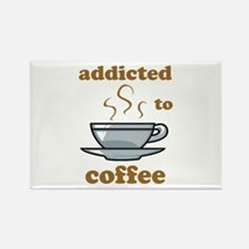 Addicted To Coffee Rectangle Magnet (100 pack)