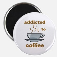 """Addicted To Coffee 2.25"""" Magnet (100 pack)"""