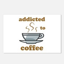 Addicted To Coffee Postcards (Package of 8)