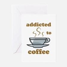 Addicted To Coffee Greeting Cards (Pk of 10)
