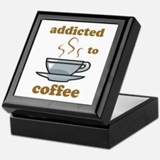 Addicted To Coffee Keepsake Box