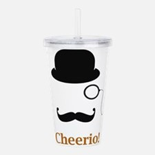 Hat Monocle Mustache Face With Cheerio Acrylic Dou