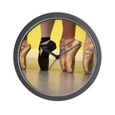 Ballet Dancers on Pointe or on Toes Wall Clock