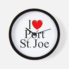 """""""I Love Port St. Joe"""" Wall Clock"""