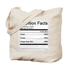 Boy Nutrition Tote Bag