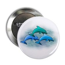 Jumping dolphins Button