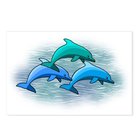 Jumping dolphins Postcards (Package of 8)